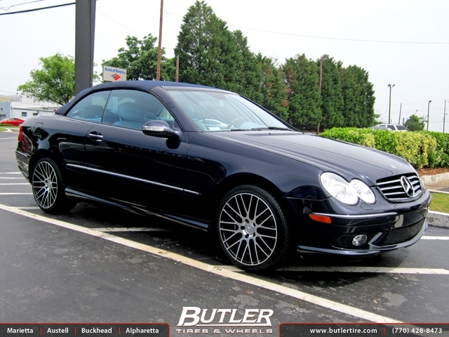 Mercedes CLK with 18in TSW Parabolica Wheels