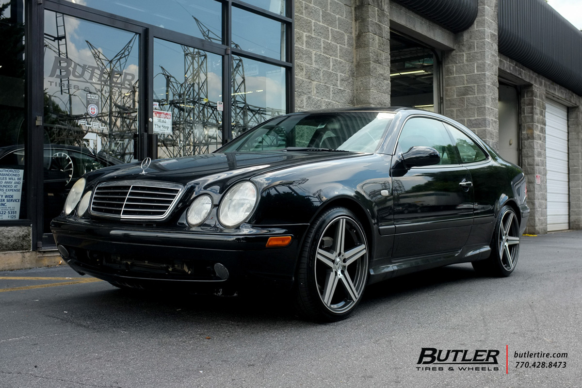 Mercedes CLK with 19in Mandrus Estrella Wheels