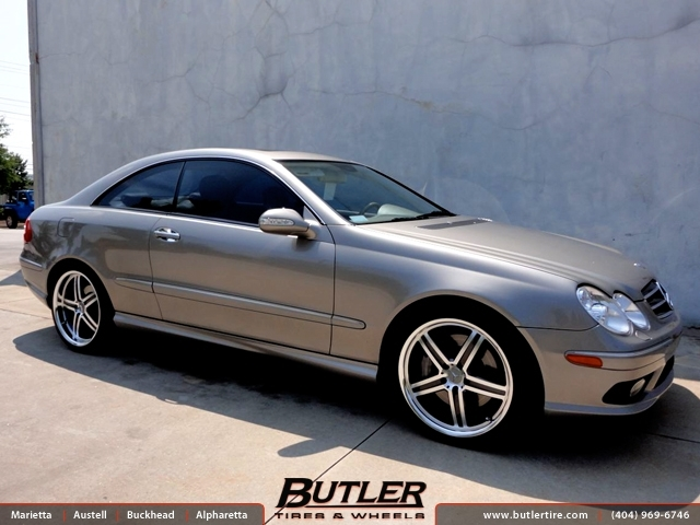 mercedes clk with 19in mandrus mannheim wheels exclusively from butler tires and wheels in. Black Bedroom Furniture Sets. Home Design Ideas