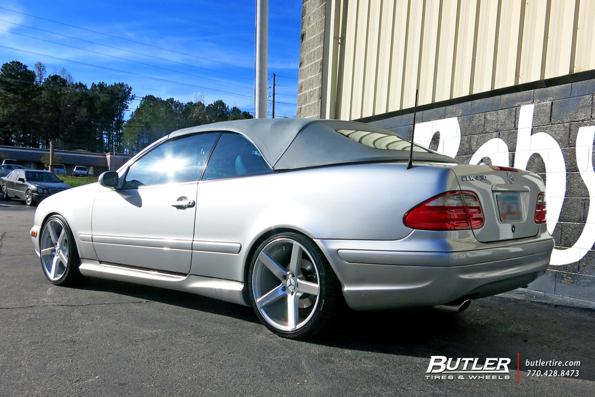 Mercedes CLK with 19in Niche Milan Wheels
