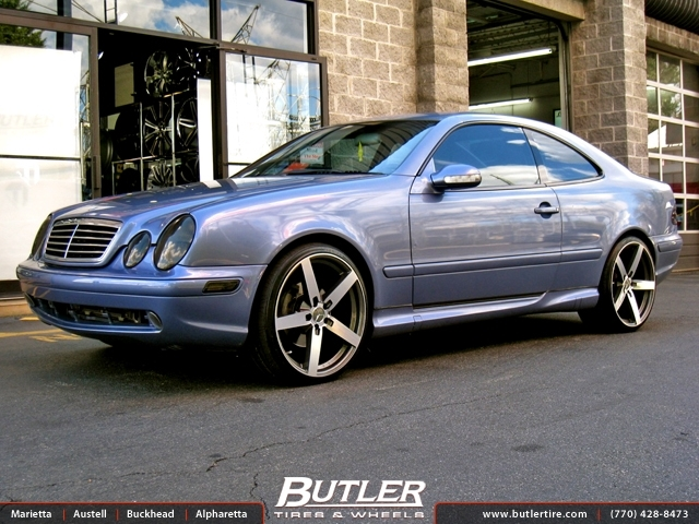 Mercedes CLK with 20in Mandrus Arrow Wheels