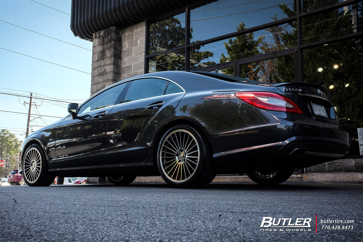 Mercedes CLS with 19in Mandrus 23 Wheels