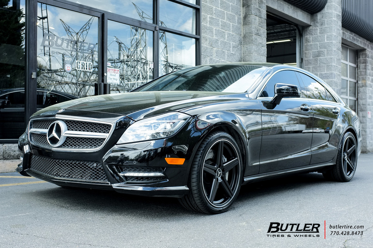 Mercedes CLS with 19in Mandrus Estrella Wheels