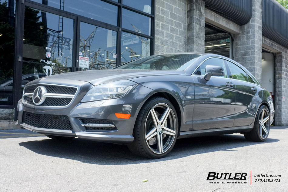 Mercedes cls with 19in mandrus estrella wheels exclusively for Mercedes benz tire inflator
