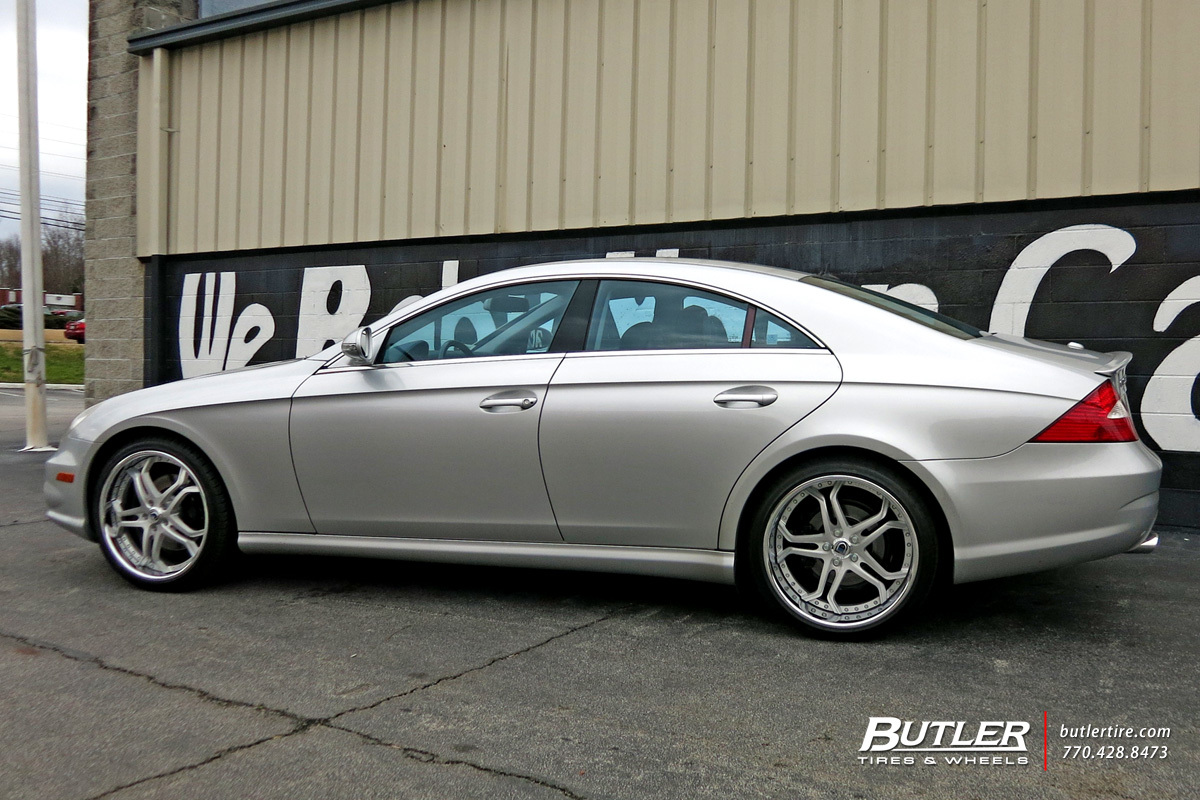 Mercedes CLS with 20in Asanti AF173 Wheels