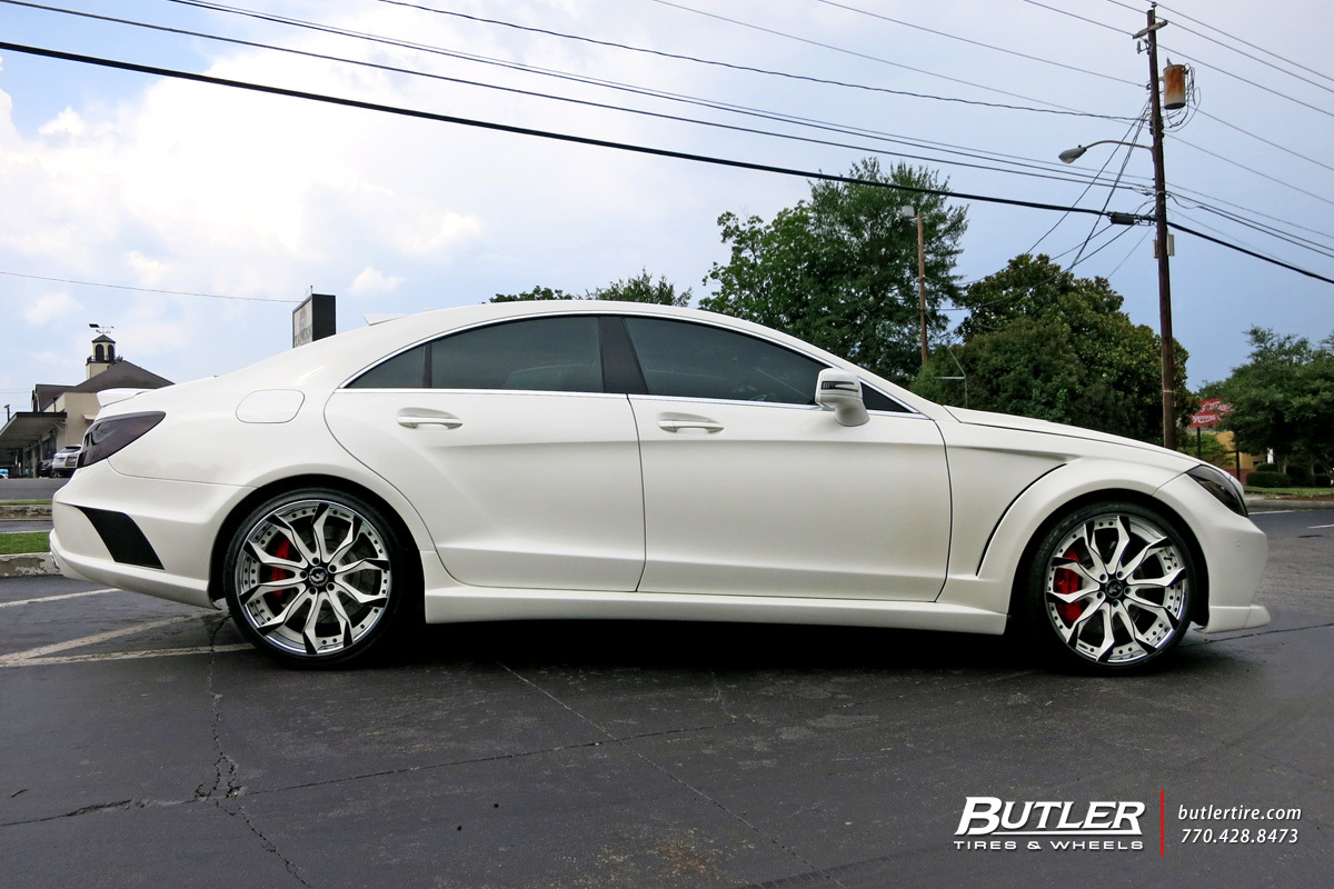Mercedes CLS with 20in Forgiato F2 16 Wheels