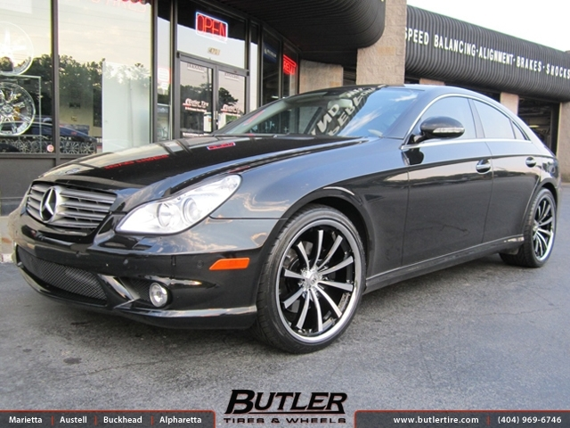 Mercedes CLS with 20in Lexani CVX 55 Wheels