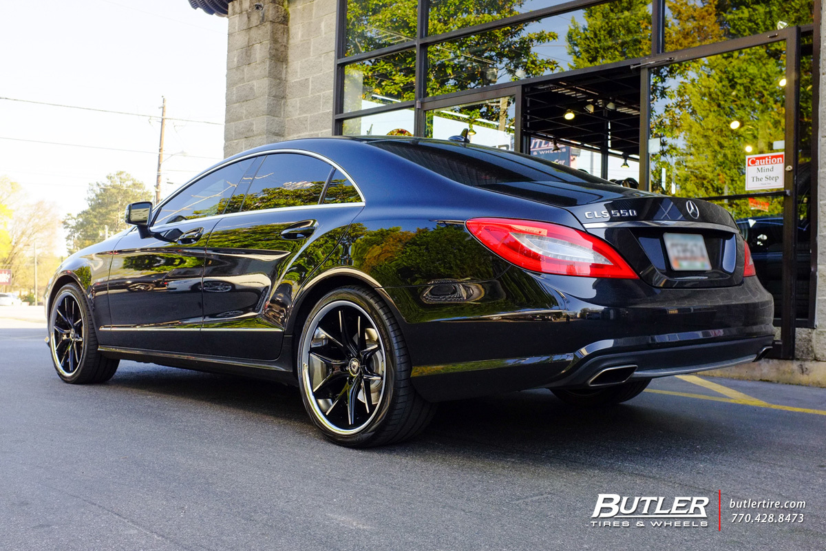 Mercedes CLS with 20in Lexani R-Twelve Wheels