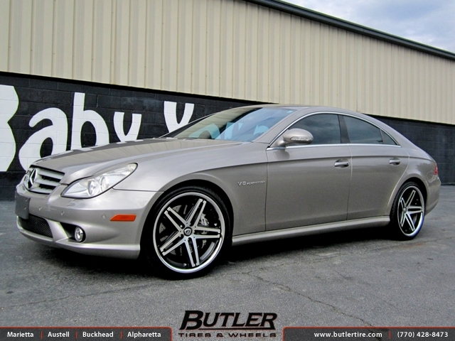 Mercedes CLS with 20in Lexani R-Five Wheels