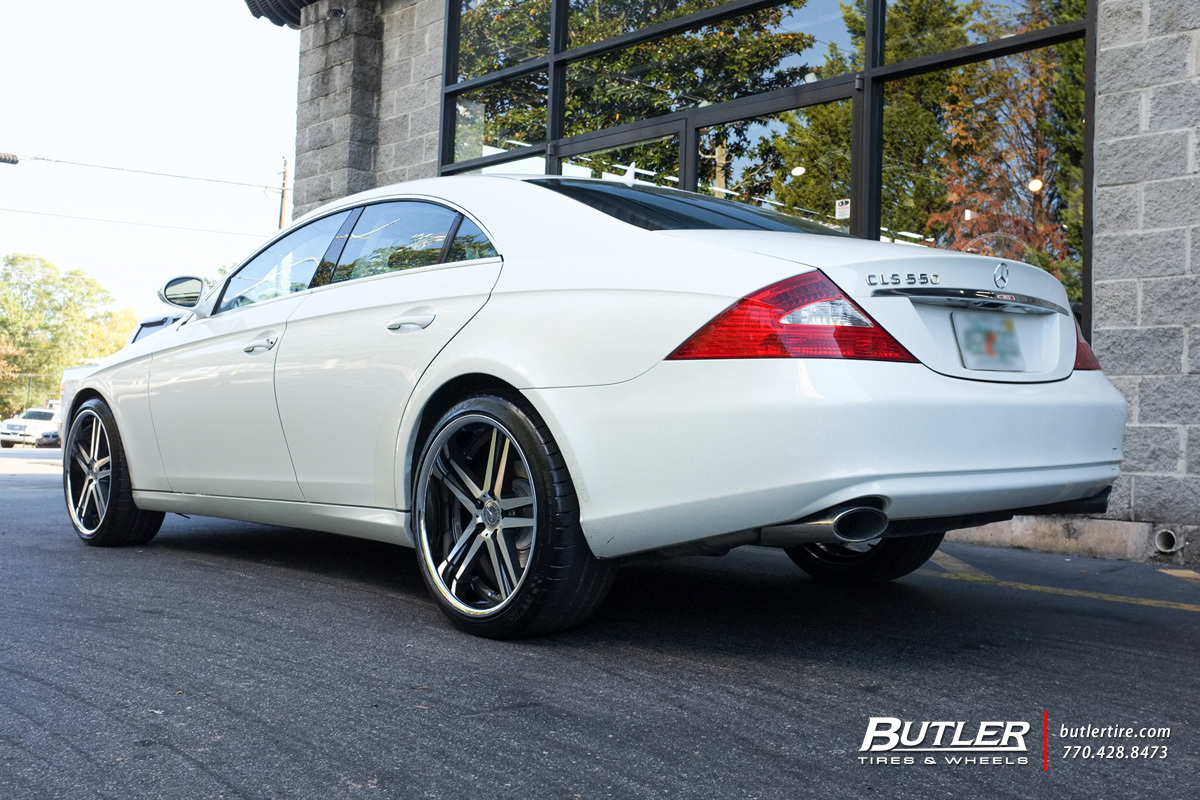 Mercedes CLS with 20in Mandrus Simplex Wheels