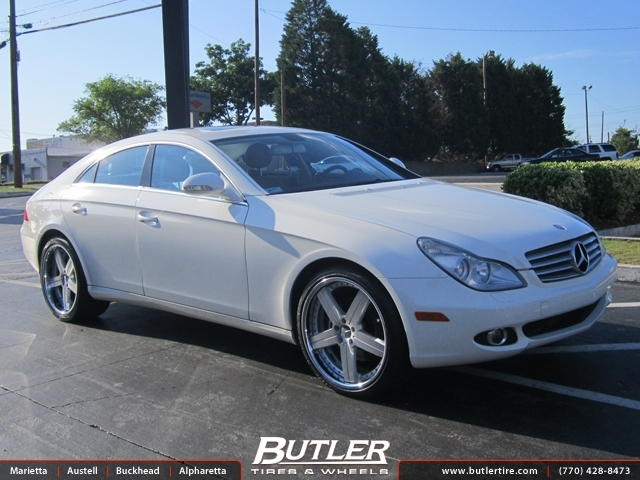 Mercedes CLS with 20in Mandrus Stuttgart Wheels