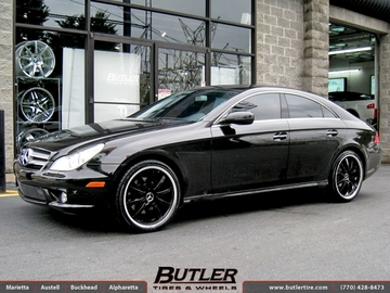 Mercedes CLS with 20in Mandrus Wilhelm Wheels