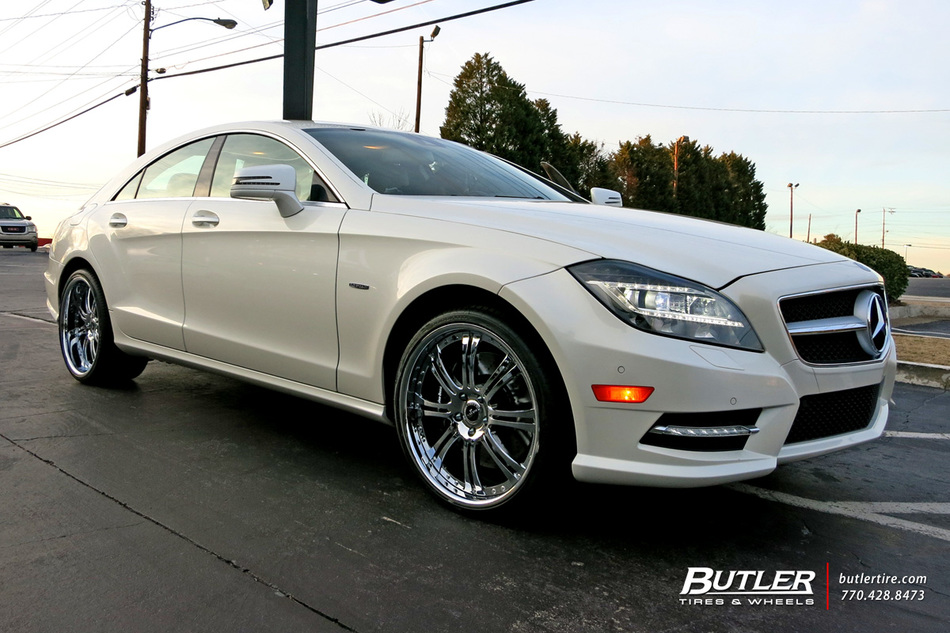 Mercedes cls with 20in savini sv27 wheels exclusively from for Mercedes benz tire inflator
