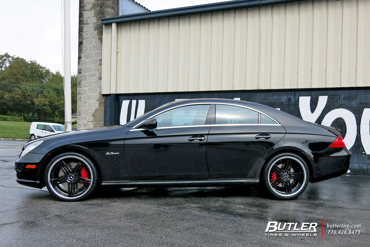 mercedes cls with 20in tsw nouvelle wheels exclusively from butler tires and wheels in atlanta. Black Bedroom Furniture Sets. Home Design Ideas