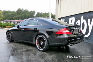 mercedes cls with 20in tsw nouvelle wheels exclusively. Black Bedroom Furniture Sets. Home Design Ideas