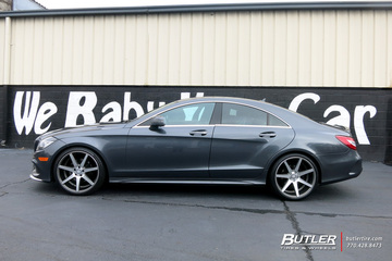 Mercedes CLS with 20in Vossen CV7 Wheels