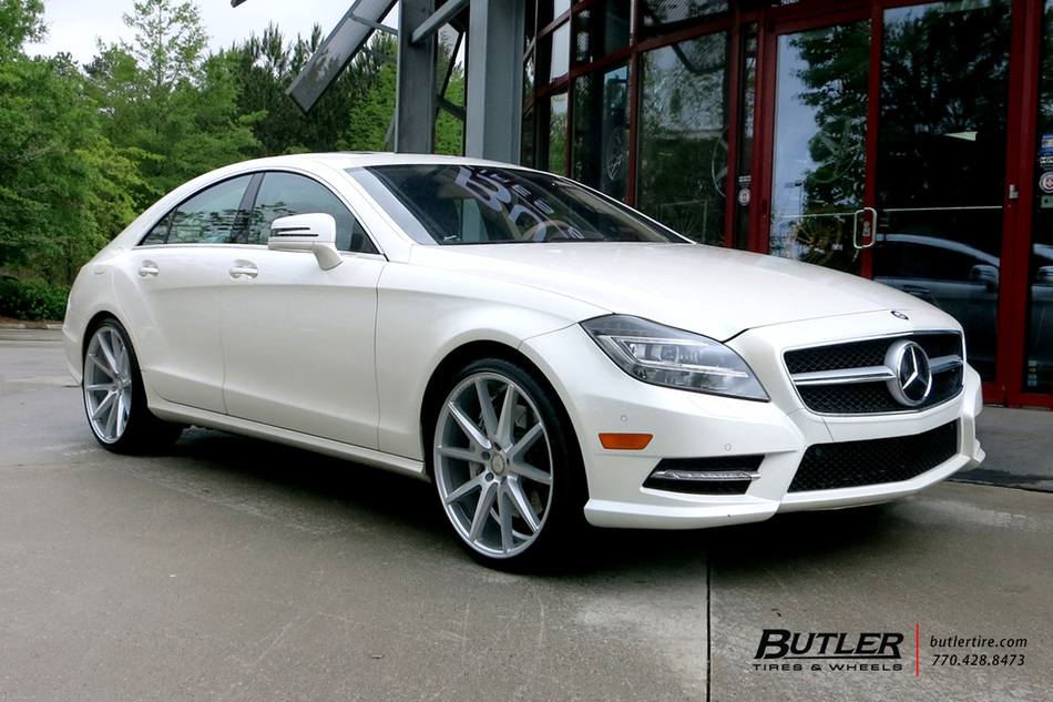 Mercedes CLS with 21in Vossen VFS1 Wheels exclusively from Butler Tires and Wheels in Atlanta ...
