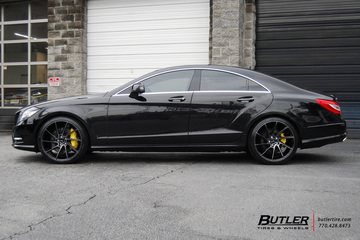 Mercedes CLS with 22in Savini BM15 Wheels