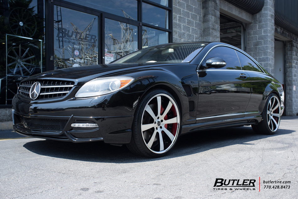 Mercedes cl class with 22in savini sv28c wheels for Mercedes benz tire inflator