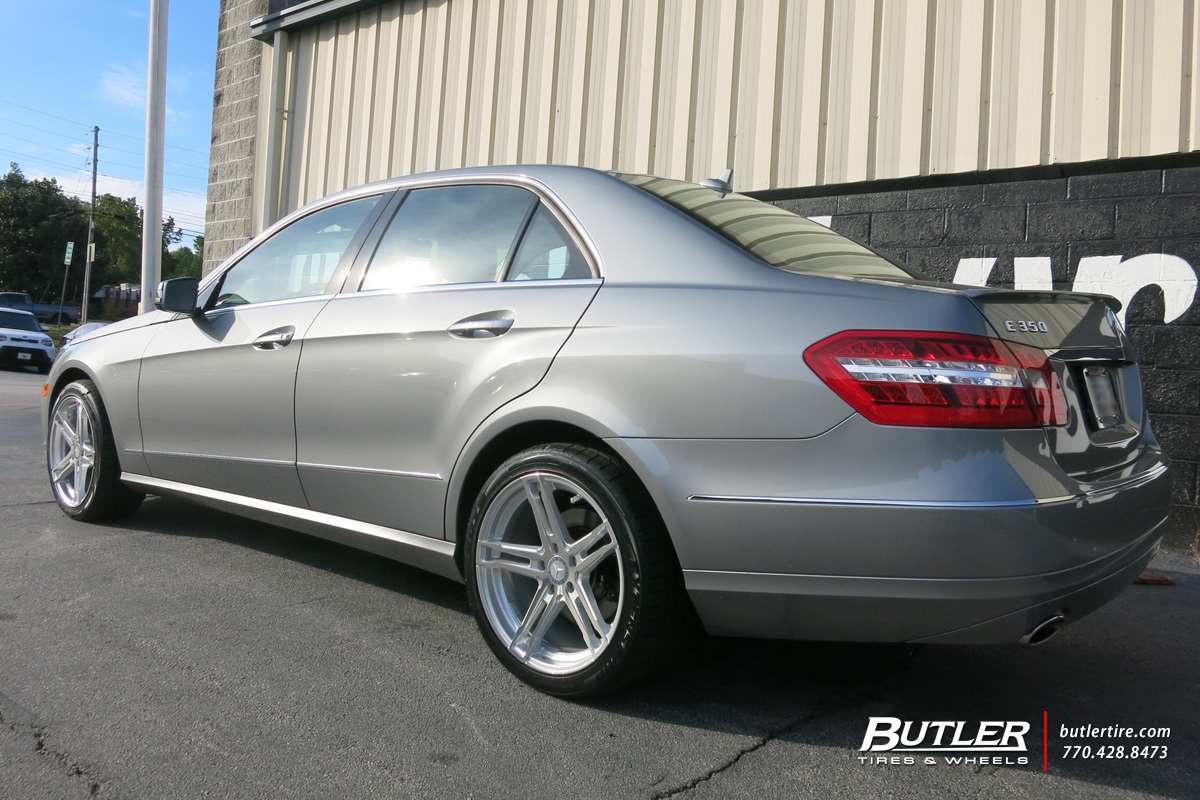 Mercedes E-Class with 18in TSW Mechanica Wheels