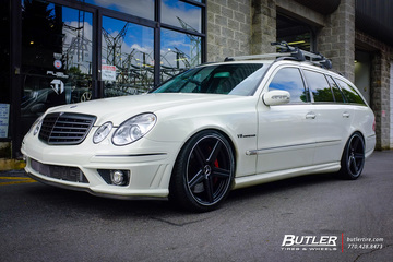 Mercedes E-Class with 19in Mandrus Estrella Wheels