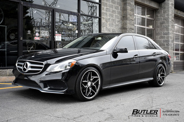Mercedes E-Class with 20in Lexani Spyder Wheels