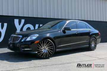 Mercedes E-Class with 20in Lexani Wraith Wheels