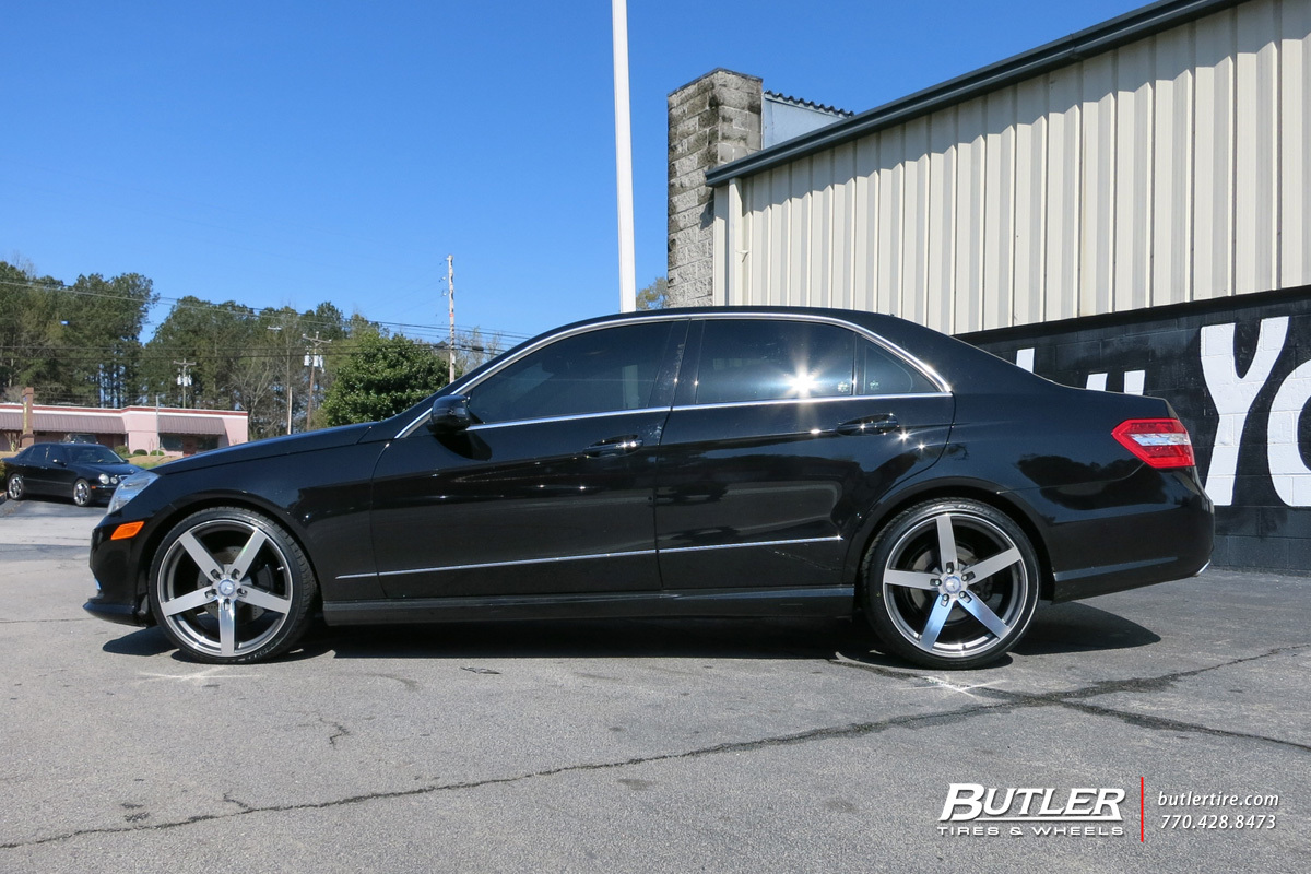 Mercedes E-Class with 20in Mandrus Arrow Wheels