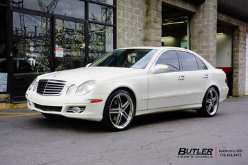 Mercedes E-Class with 20in Mandrus Mannheim Wheels