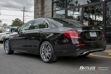 Mercedes E-Class with 20in Mandrus Wilhelm Wheels