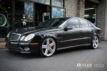 Mercedes E-Class with 20in TSW Bristol Wheels