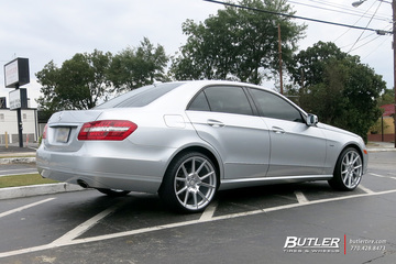 Mercedes E-Class with 20in TSW Chrono Wheels
