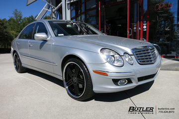 Mercedes E-Class with 20in TSW Nouvelle Wheels