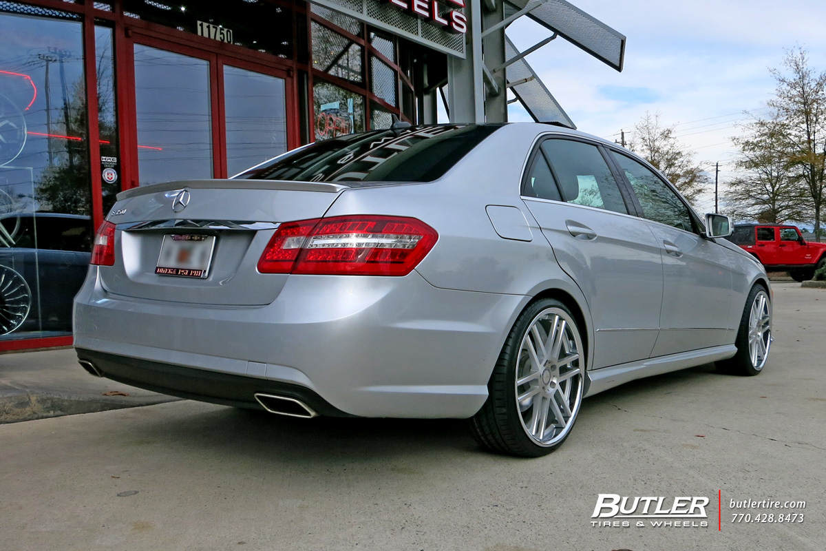 Mercedes E-Class with 20in TSW Rouen Wheels
