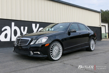 Mercedes E-Class with 20in TSW Turbina Wheels