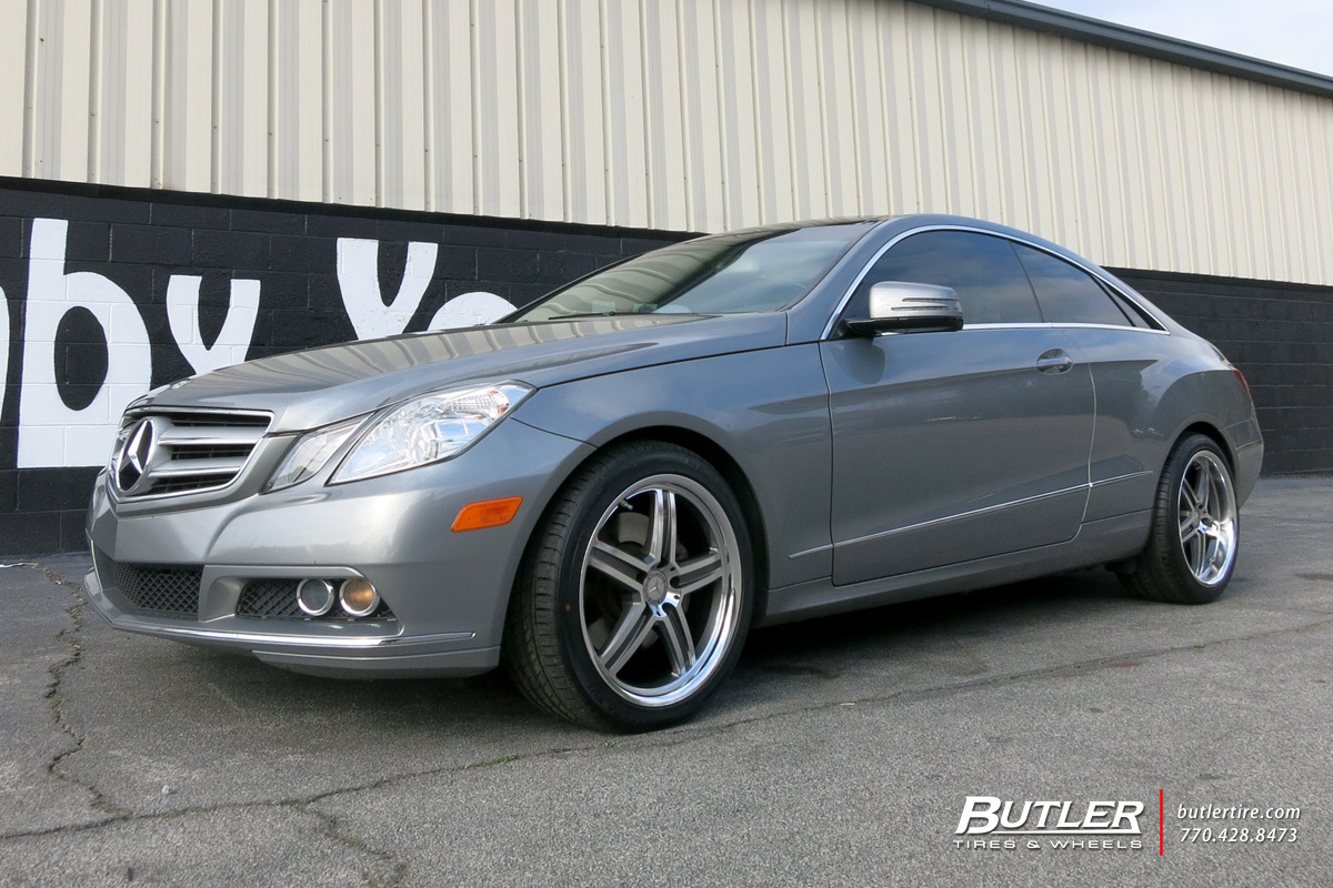 Mercedes E-Class Coupe with 18in Mandrus Mannheim Wheels