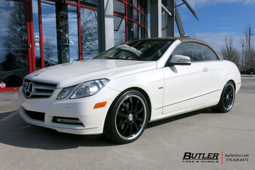 Mercedes E-Class Coupe with 18in Mandrus Wilhelm Wheels