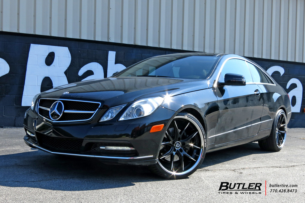Mercedes E-Class Coupe with 20in Lexani R-Twelve Wheels ...