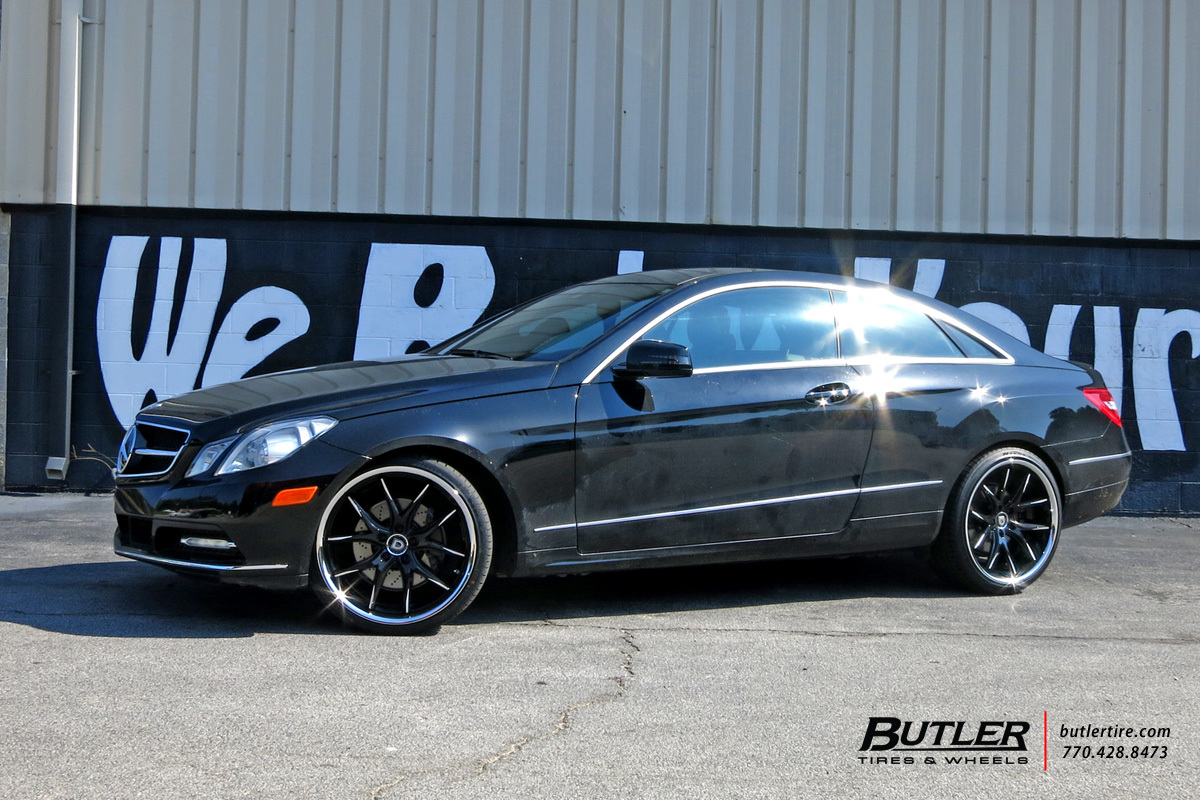 Mercedes E-Class Coupe with 20in Lexani R-Twelve Wheels