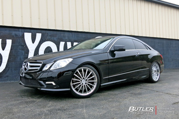 Mercedes E-Class Coupe with 20in Mandrus Millenium Wheels