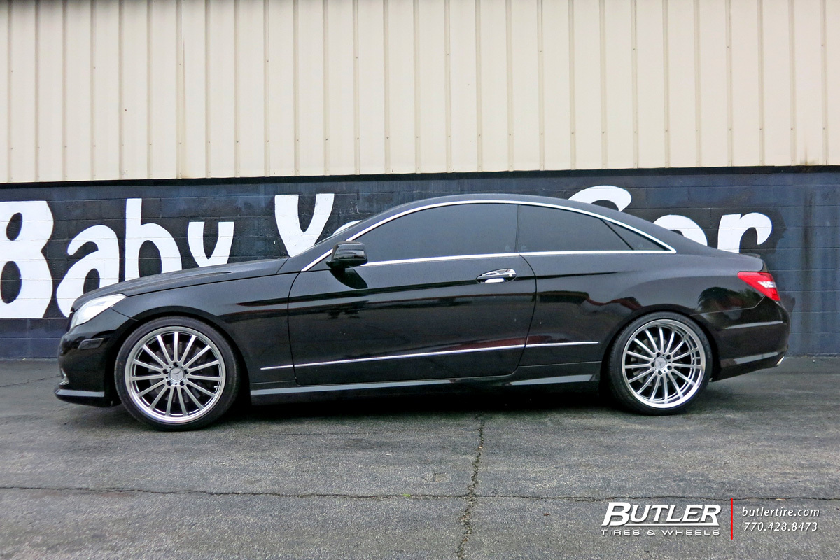 Mercedes E Class Coupe With 20in Mandrus Millenium Wheels