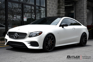 Mercedes E-Class Coupe with 20in Savini BM15 Wheels