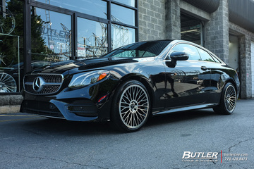 Mercedes E-Class Coupe with 20in TSW Casino Wheels