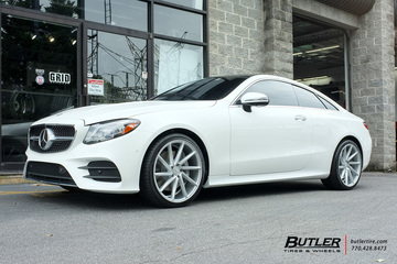 Mercedes E-Class Coupe with 20in Vossen CVT Wheels