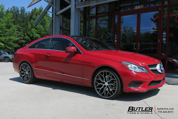 Mercedes E-Class Coupe with 20in Vossen HF-2 Wheels
