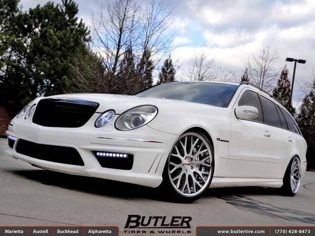 Mercedes E-Class with 19in TSW Amaroo Wheels