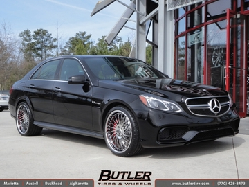 Mercedes E-Class with 20in Lexani LF712 Wheels