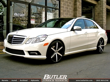 Mercedes E-Class with 20in Lexani R-Six Wheels