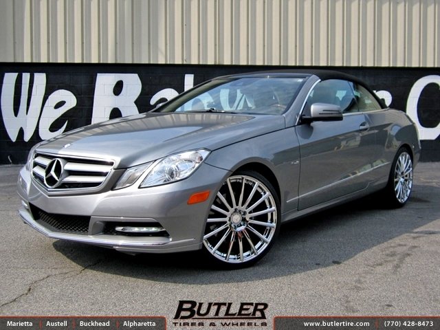 Mercedes E-Class with 20in Mandrus Rotec Wheels