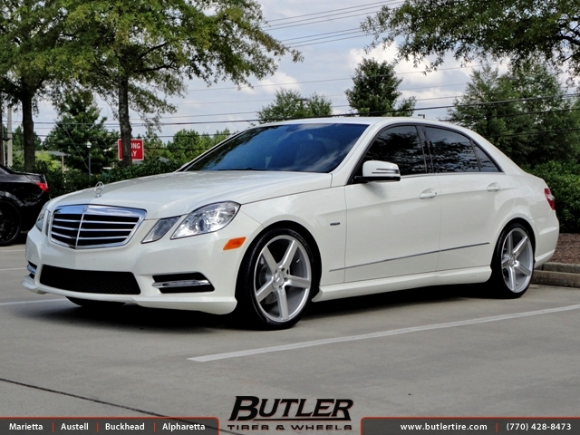 Mercedes E-Class with 20in Niche Milan Wheels